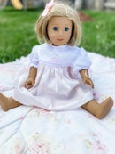 Image 2 of Custom Satin Batiste American Girl Doll Dress
