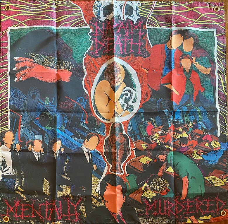 "Image of Napalm Death "" Mentally Murdered ""  Flag / Banner / Tapestry"