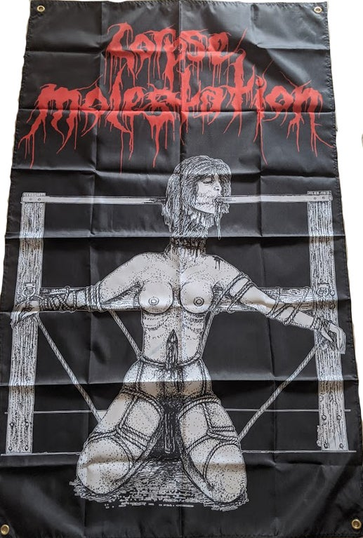 "Image of Corpse Molestation "" Demo "" Banner /  Flag / Tapestry"
