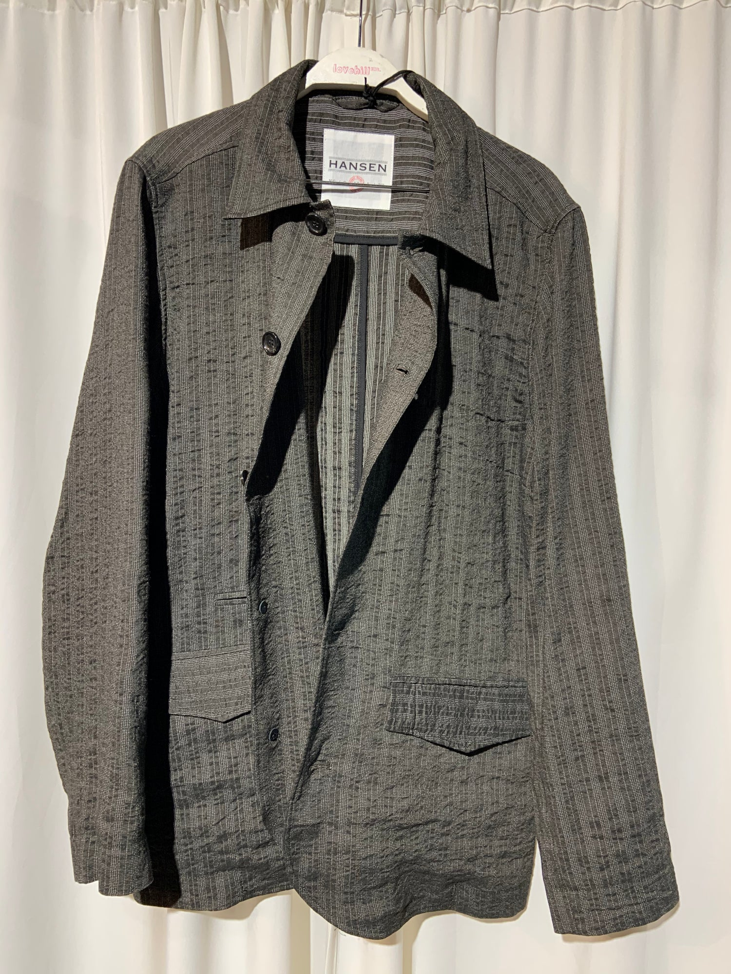 Image of HANSEN GARMENTS Blazer Jacket taupe stripes