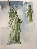 Image 1 of COVID-19 Statue of Liberty - Print
