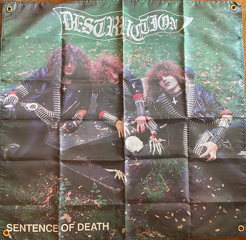 Image of Destruction - Sentence of Death - Banner / Tapestry / Flag