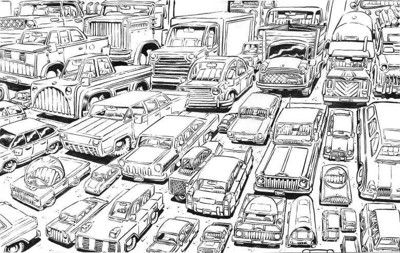 Image of Cars drawing