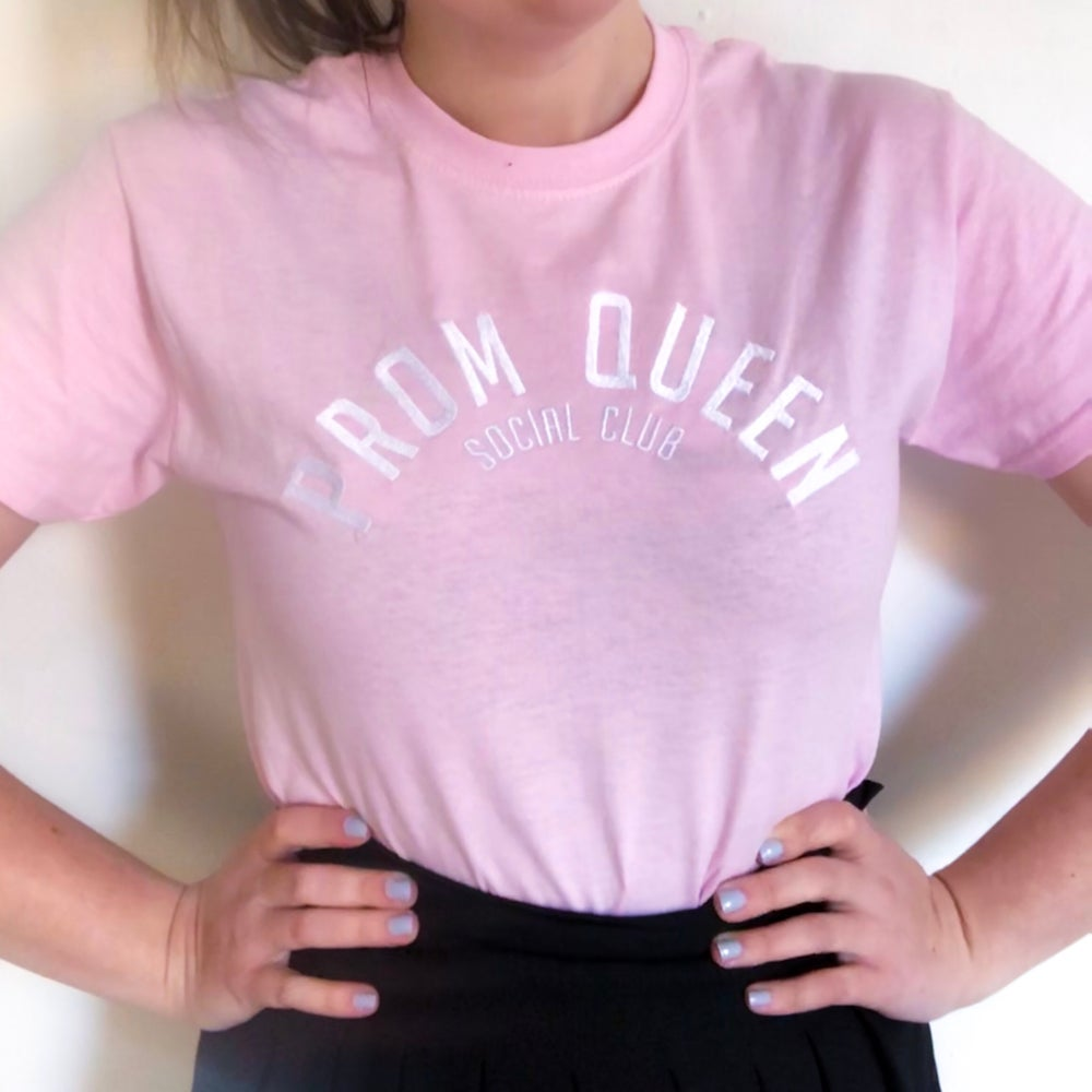 Image of Pink Embroidered T-shirt