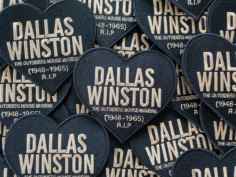 "Image of The Outsiders House Museum ""Dallas Winston"" Heart Patch."