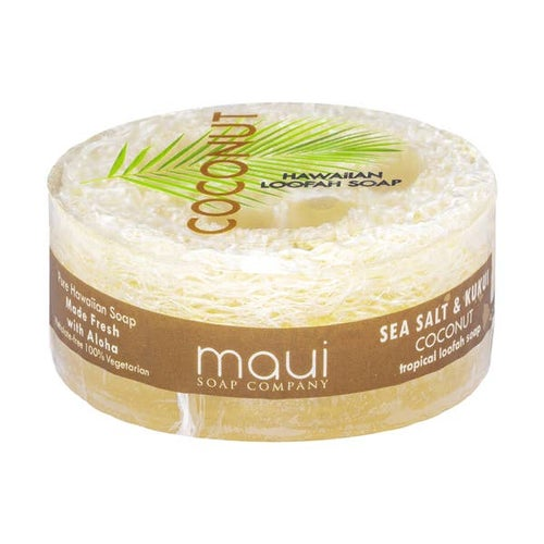 Image of Coconut Sea Salt & Kukui Exfoliating Loofah Soap 4.75oz