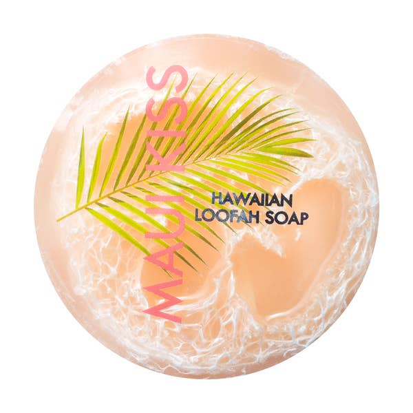 Image of Maui Kiss Sea Salt & Kukui Exfoliating Loofah Soap 4.75oz- Maui Soap Co.
