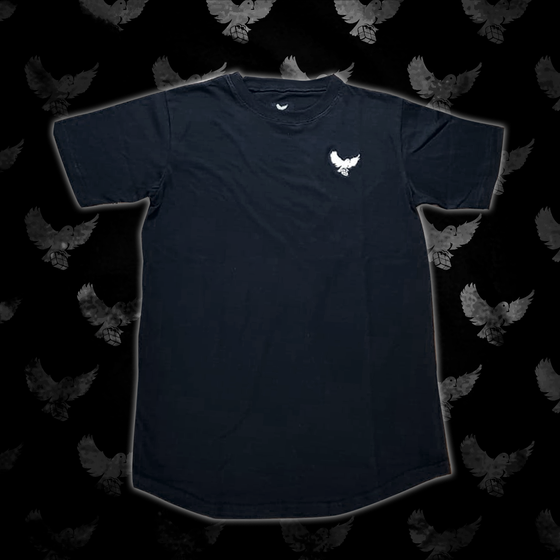 Image of Black/White Birdies Scoop T-shirt