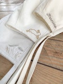 Image 4 of Leaping Rabbit | Embroidered Bonnet