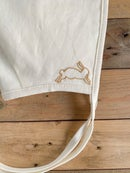 Image 2 of Leaping Rabbit | Embroidered Bonnet