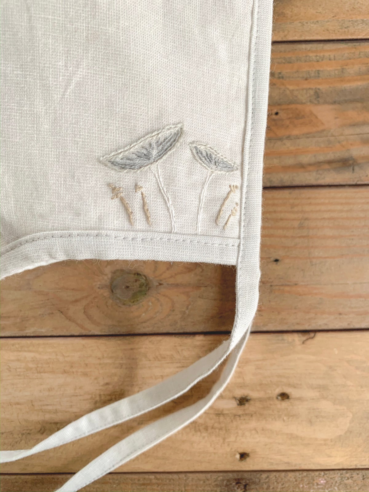 Image of Hare's Foot Inkcap | Embroidered Bonnet