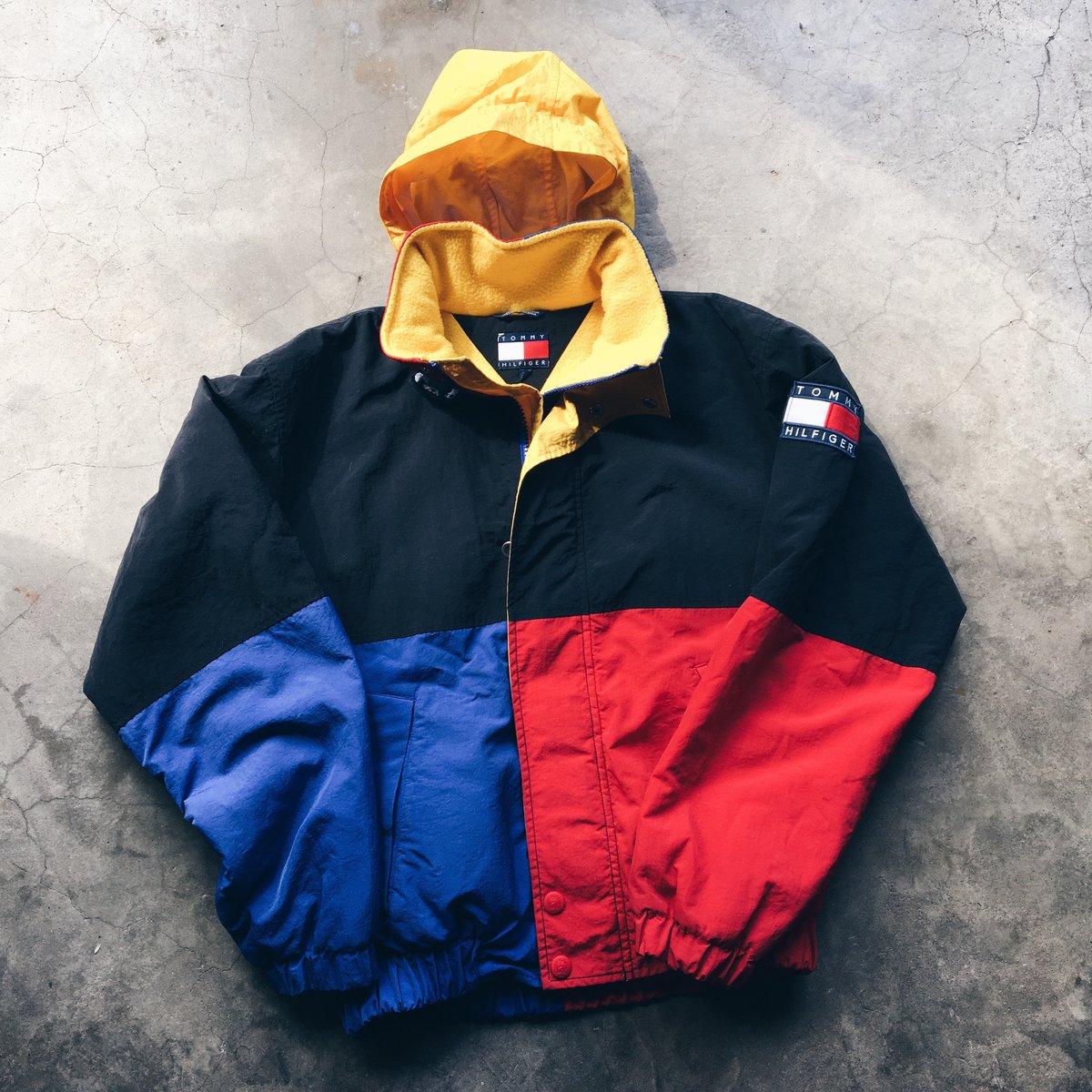 """Image of Original 90's Tommy Hilfiger """"Super Man"""" Big Flag."""