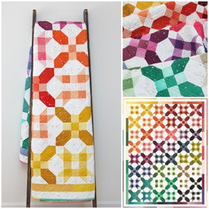 Image of Ombre Crossroads quilt PDF pattern