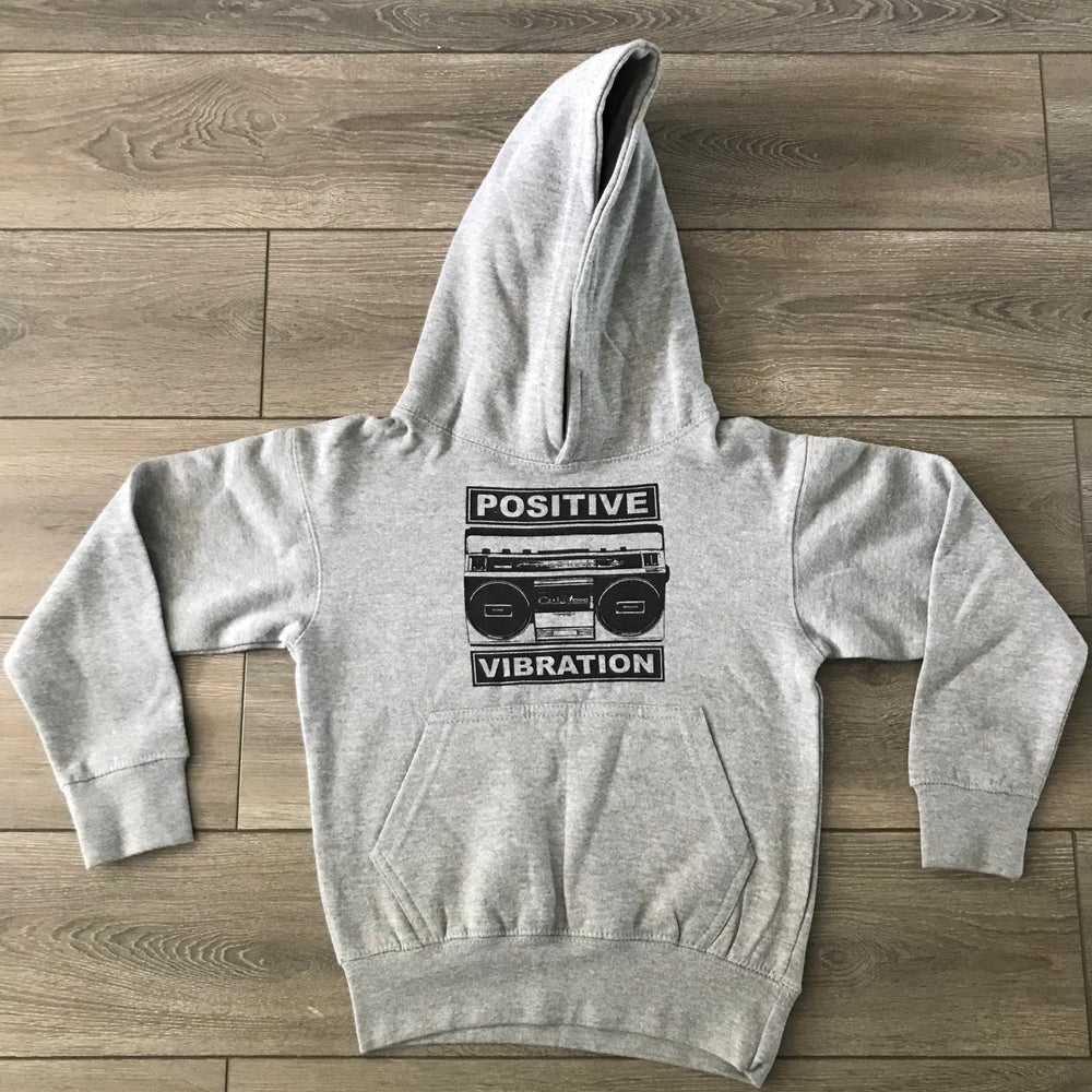 Image of Kids Positive Vibration 2 Heather Grey Hoodie