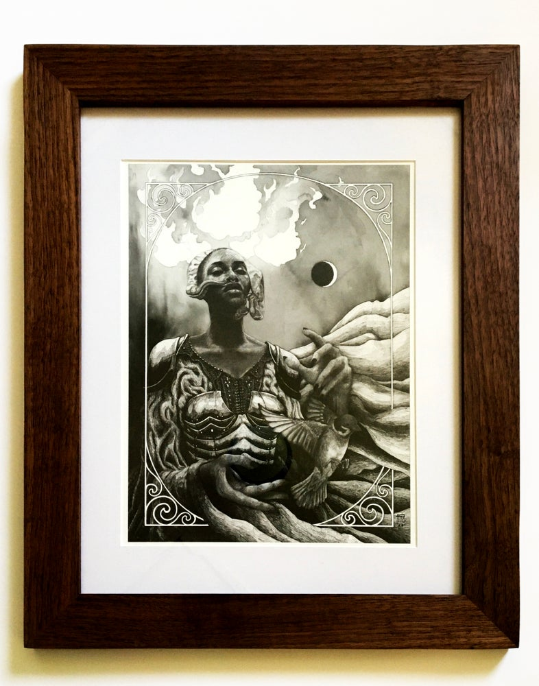 Image of Gaia-Ani in a Ravenwood Frame