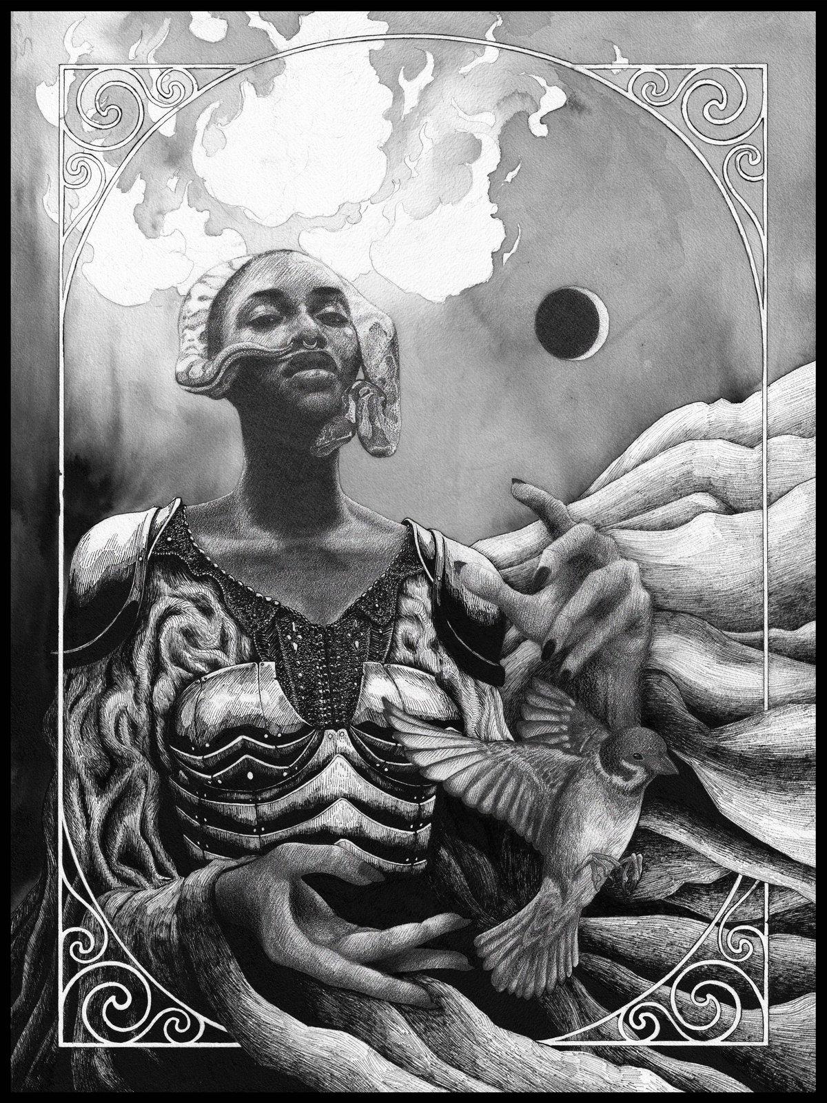 Image of Gaia-Ani in a Ravenwood Frame