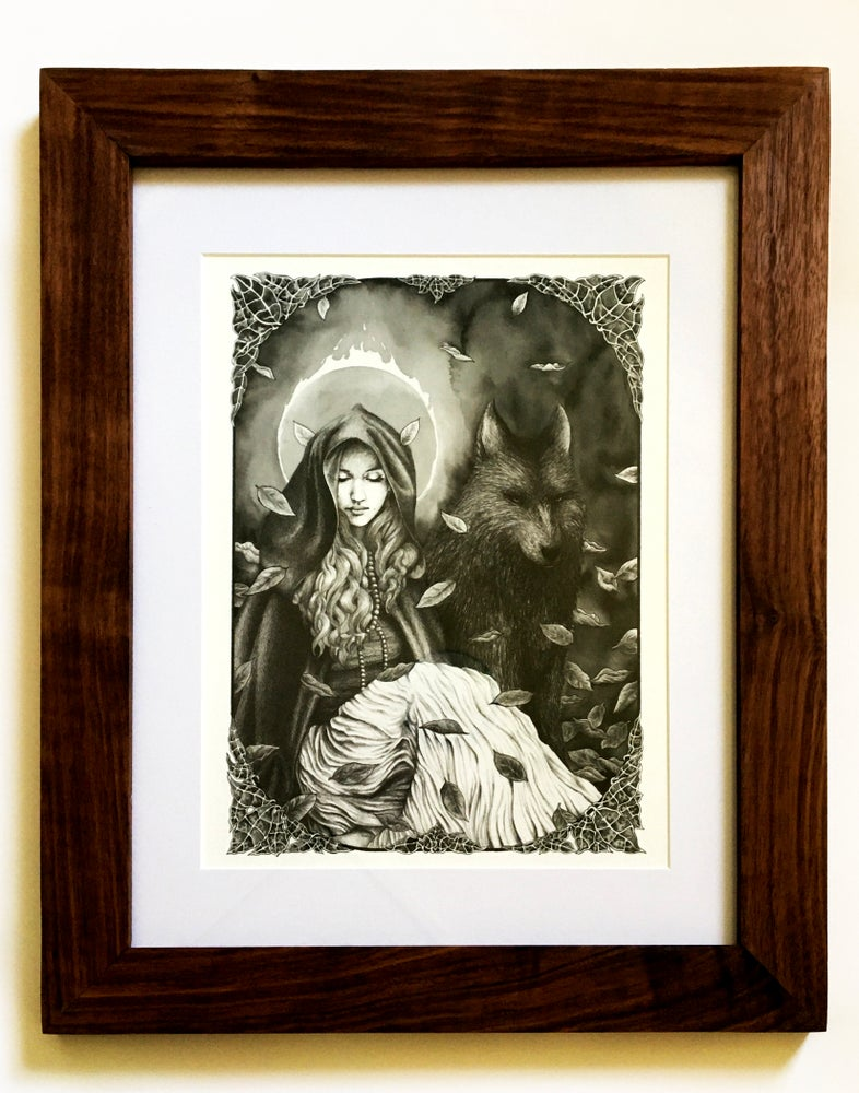 Image of The Witch and the Wolf in a Ravenwood Frame