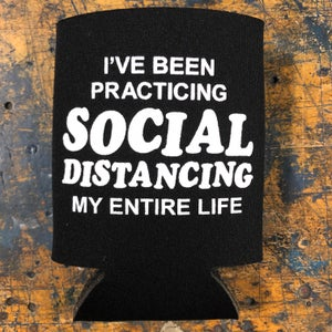 Image of Social Distancing - koozie