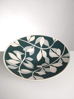 Image of Large Green, Grey & White Leaf Bowl