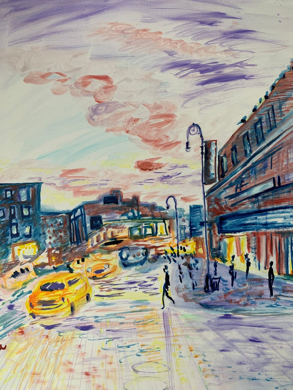 """Image of Meatpacking 30"""" x 40"""" painting"""