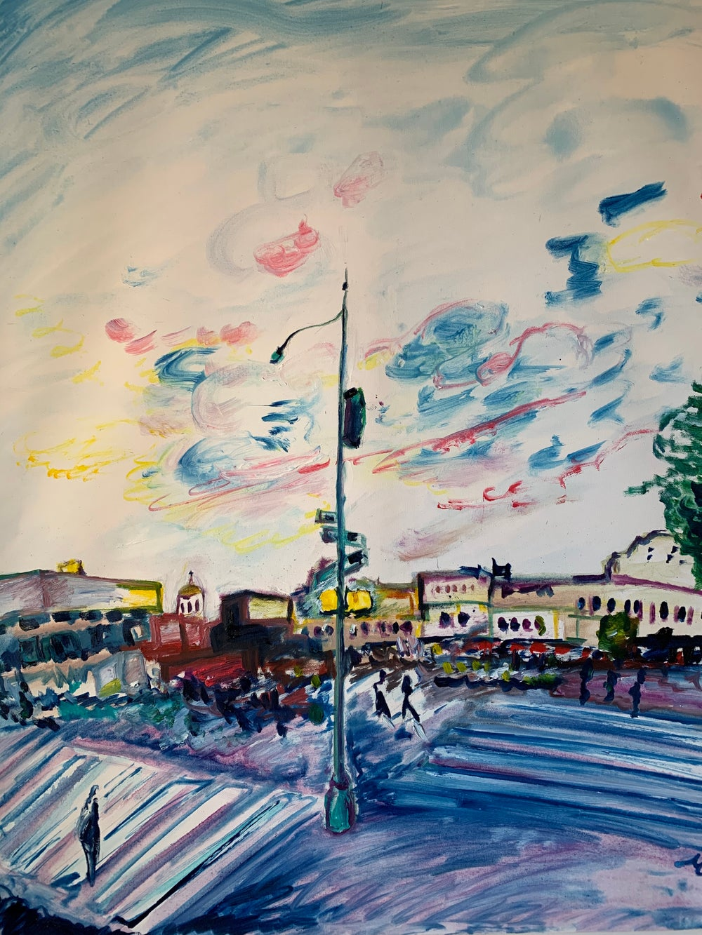 """Image of Christopher Street 30"""" x 40"""" painting"""