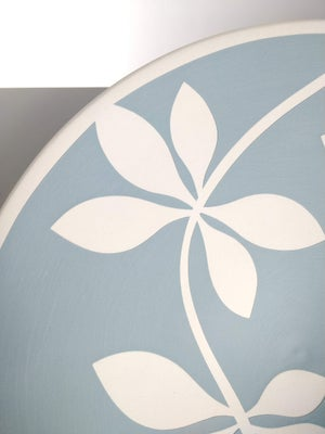Image of Medium Blue-Grey & White Leaf Bowl