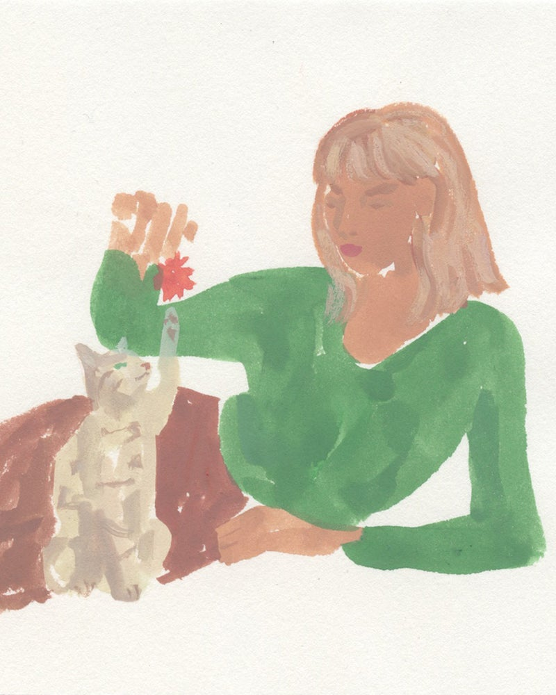 Image of Girl and Kitten - Catlady + OKC Benefit