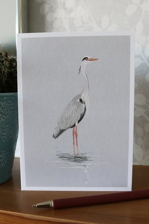 Image of Grey Heron Greeting Card