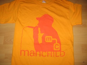 Image of Manchild Silouette T-Shirt (Gold)