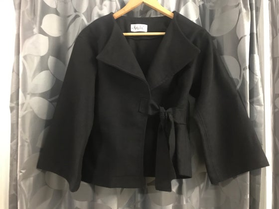 Image of KylieJane black kimono jacket- textured cotton