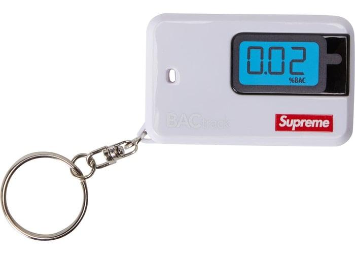 Image of Supreme BAC Track Go Breathalyzer Keychain