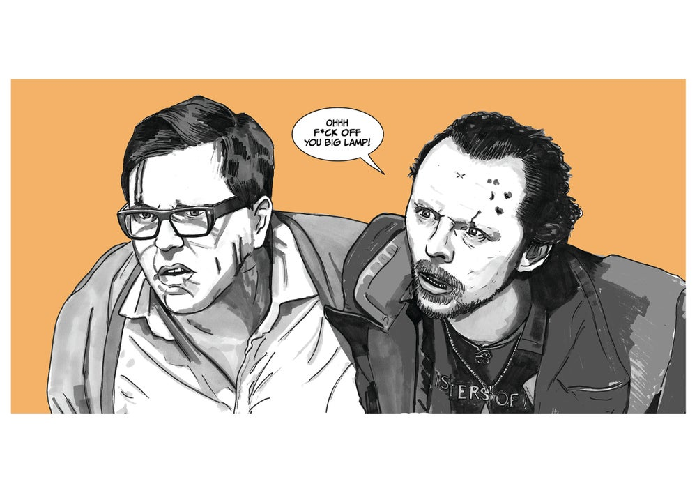Image of The World's End Comic Style Illustration A3 Signed Print