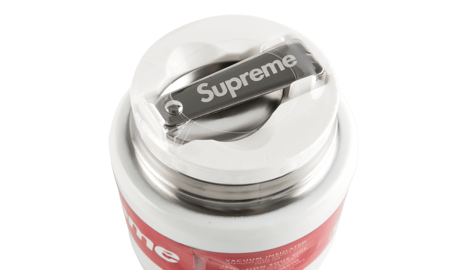 Image of Supreme Thermos Stainless King Food Jar and Spoon White