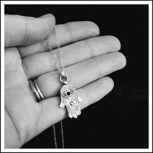 Image of Hamsa Shield Necklace