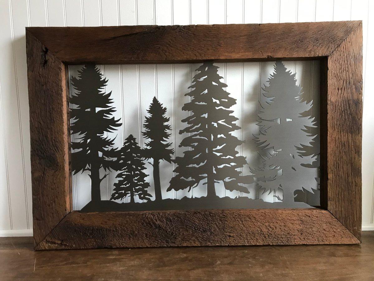 Pine Tree - Barnwood Frame