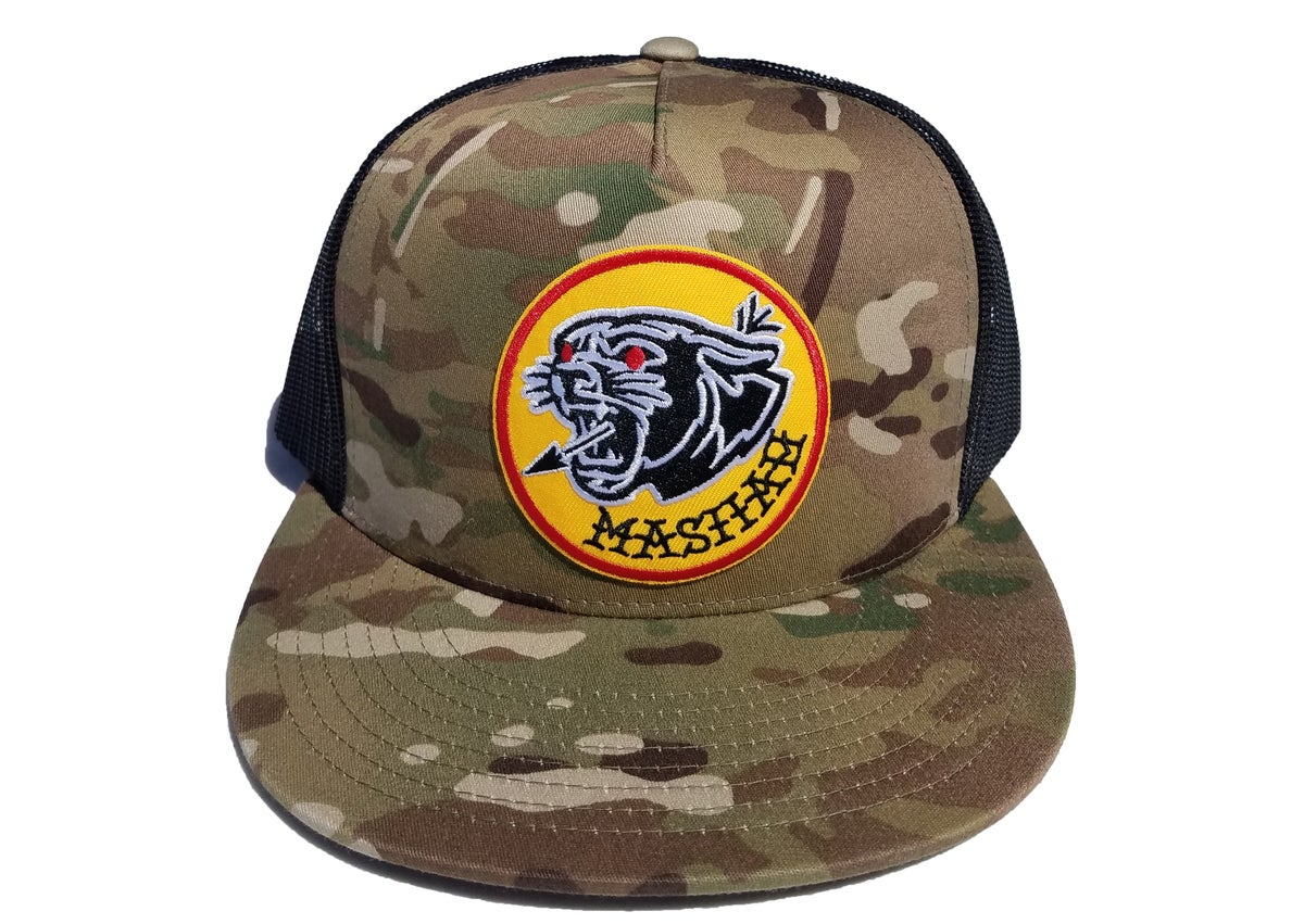 Image of Big Cat Mesh Snapback (camo)