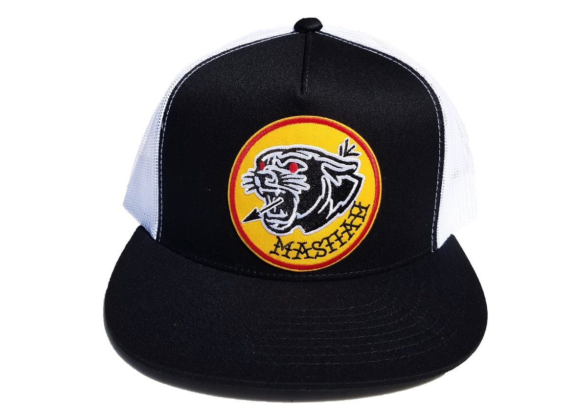 Image of Big Cat Mesh Snapback (black/white)