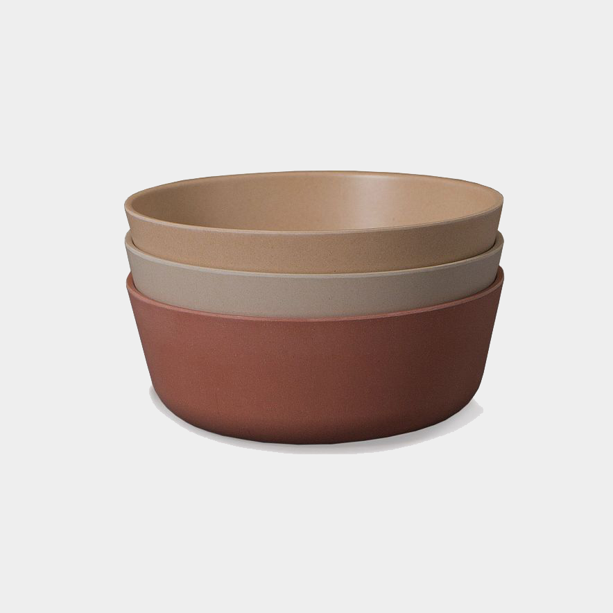 Image of Cink 3 Bowls Fog/Rye/Brick