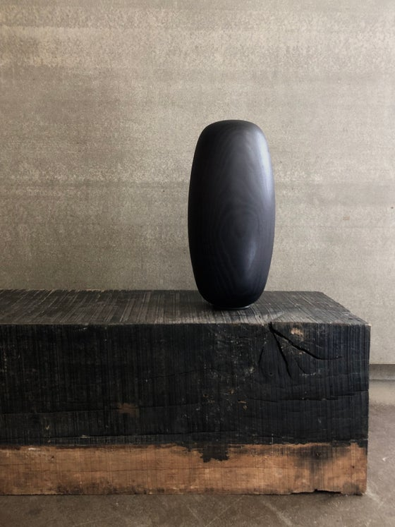 Image of ebonized ash lingam
