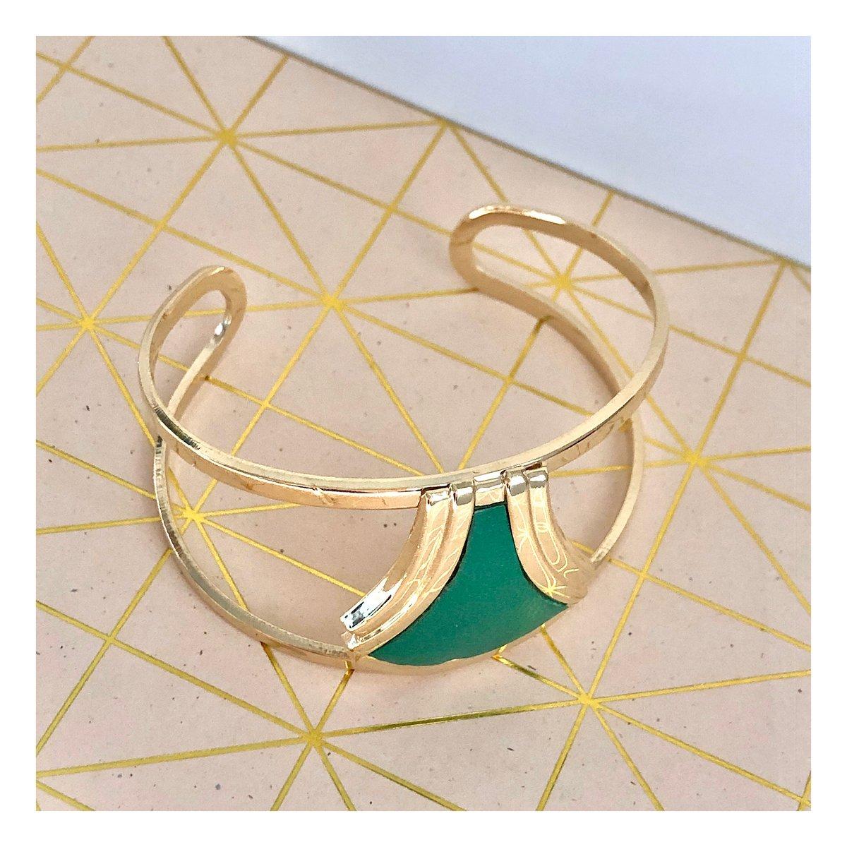 Bracelet Oskar / Vert Prairie