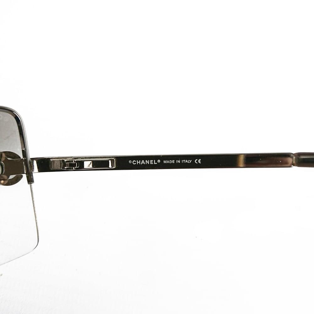 Image of Chanel CC Crystal Frameless Sunglasses