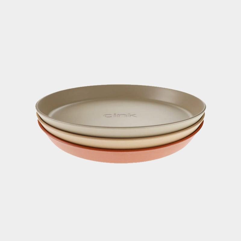 Image of Cink 3 Plates Fog/Rye/Brick