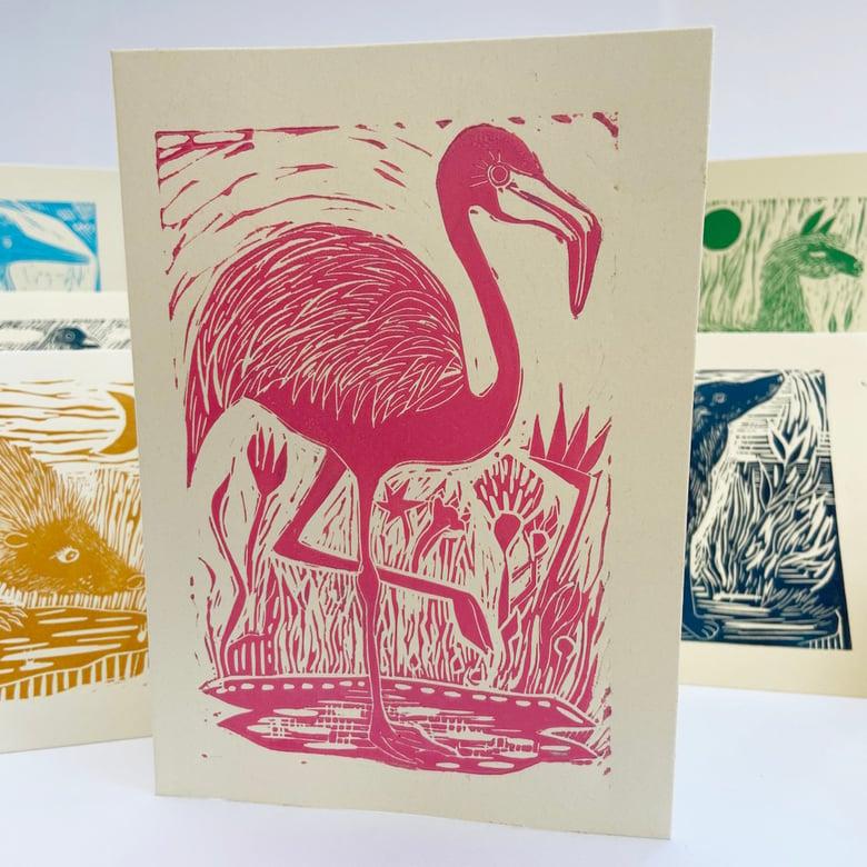 Image of Flamingo card