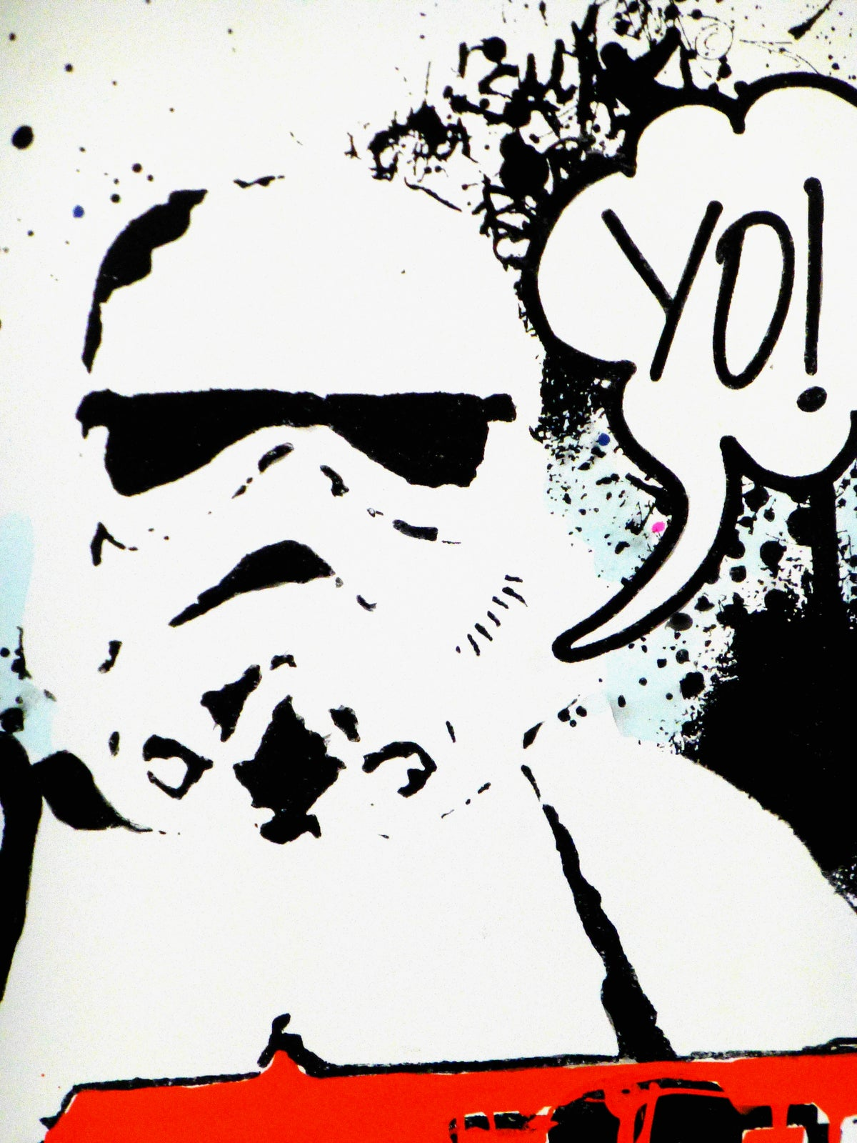 Image of YO! Stormtrooper. (Orange edition hand painted, signed)