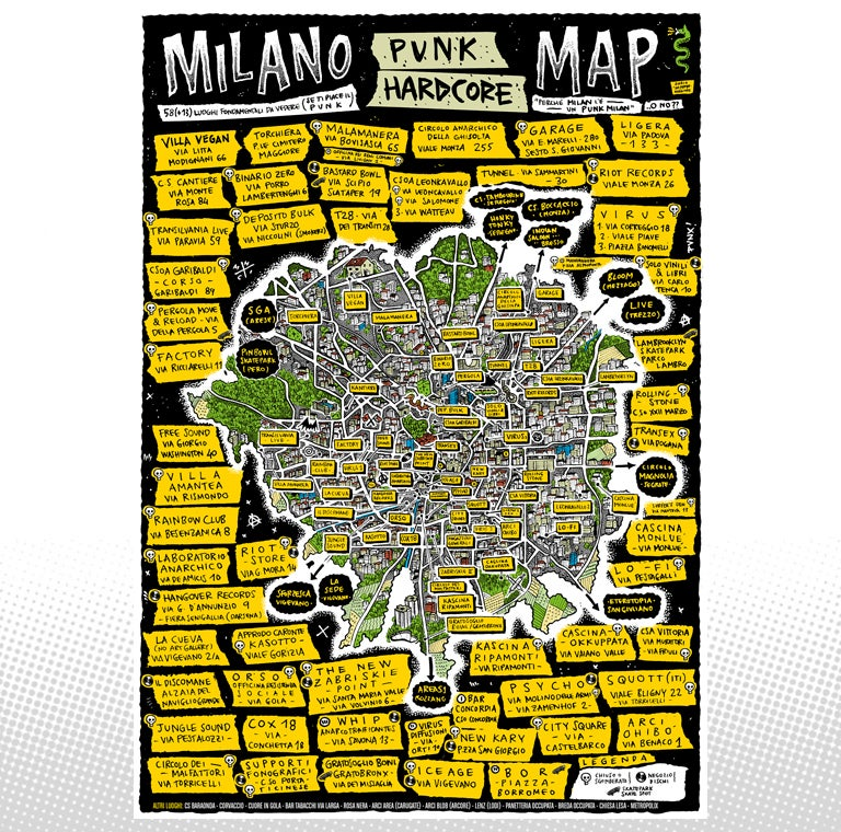 Image of Milano Punk Hard Core Map