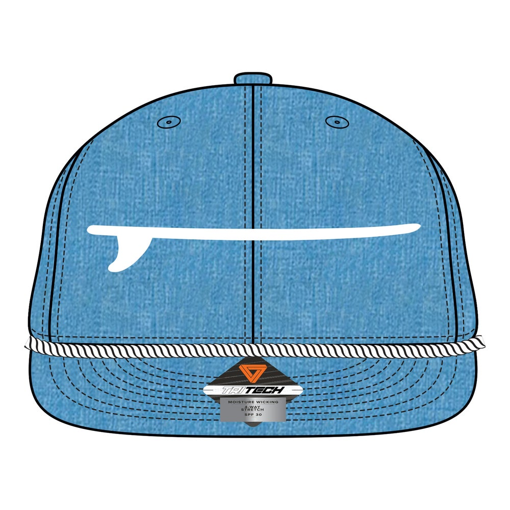 Image of Boardroom Hat Teal & White