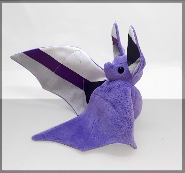 Image of Demisexual pride bat - Made to order - Multiple colour options