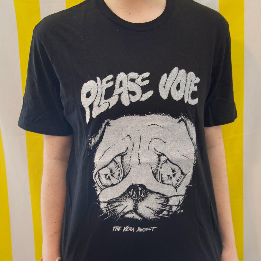 Please Vote (Sad Pug) Tee