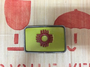 Image of Nm license plate belt buckle  (Raw metal finish)