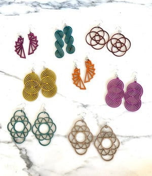 Modern Wood Earrings